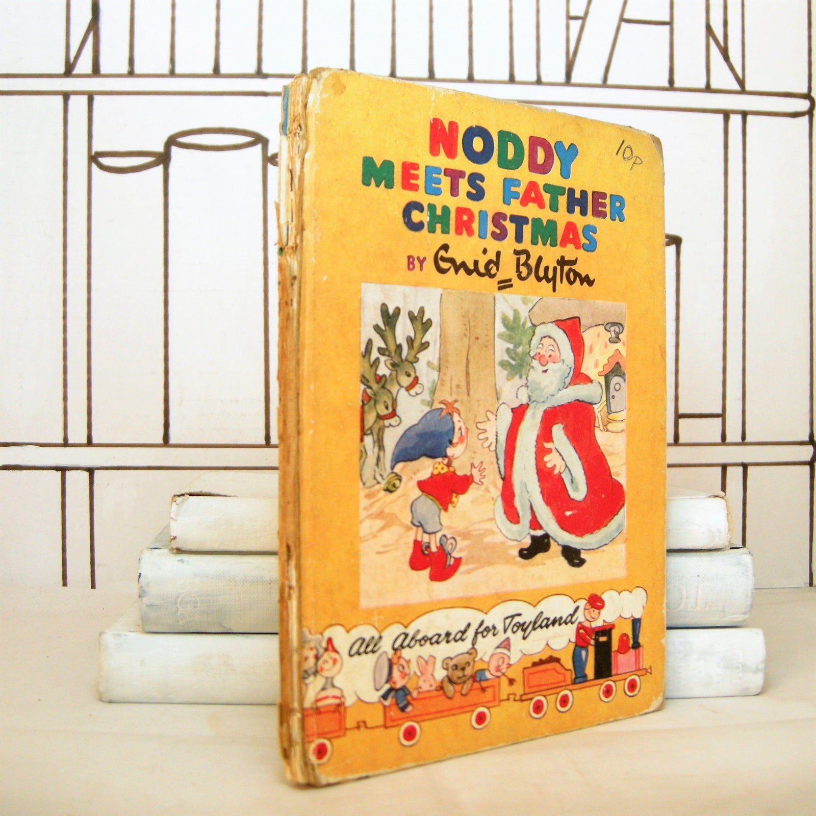 Book - Noddy Meets Father Christmas By Enid Blyton (Vintage, Children)