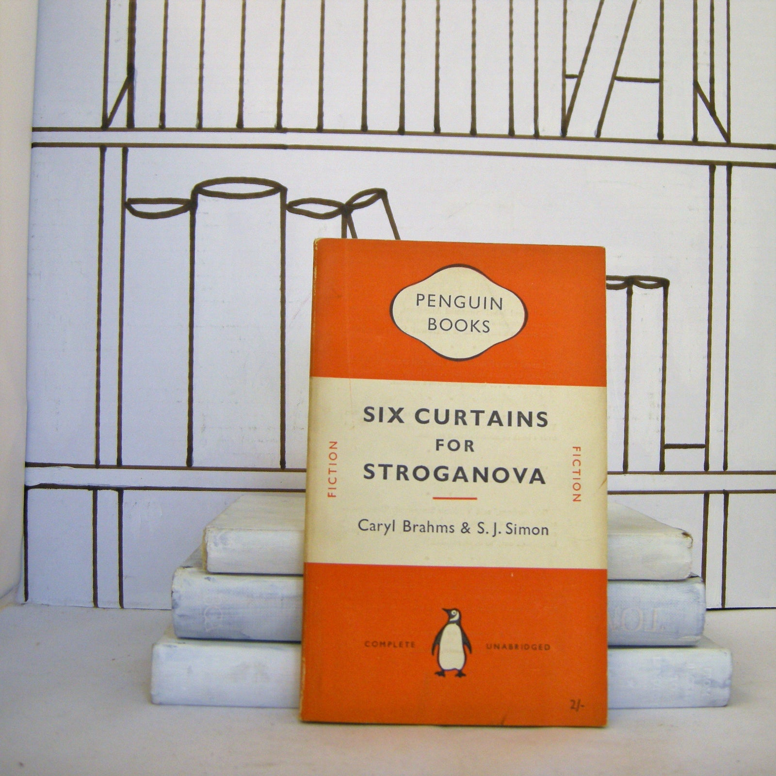 Book - Six Curtains For Stroganova By Caryl Brahms & S. J. Simon (Vintage, Penguin)