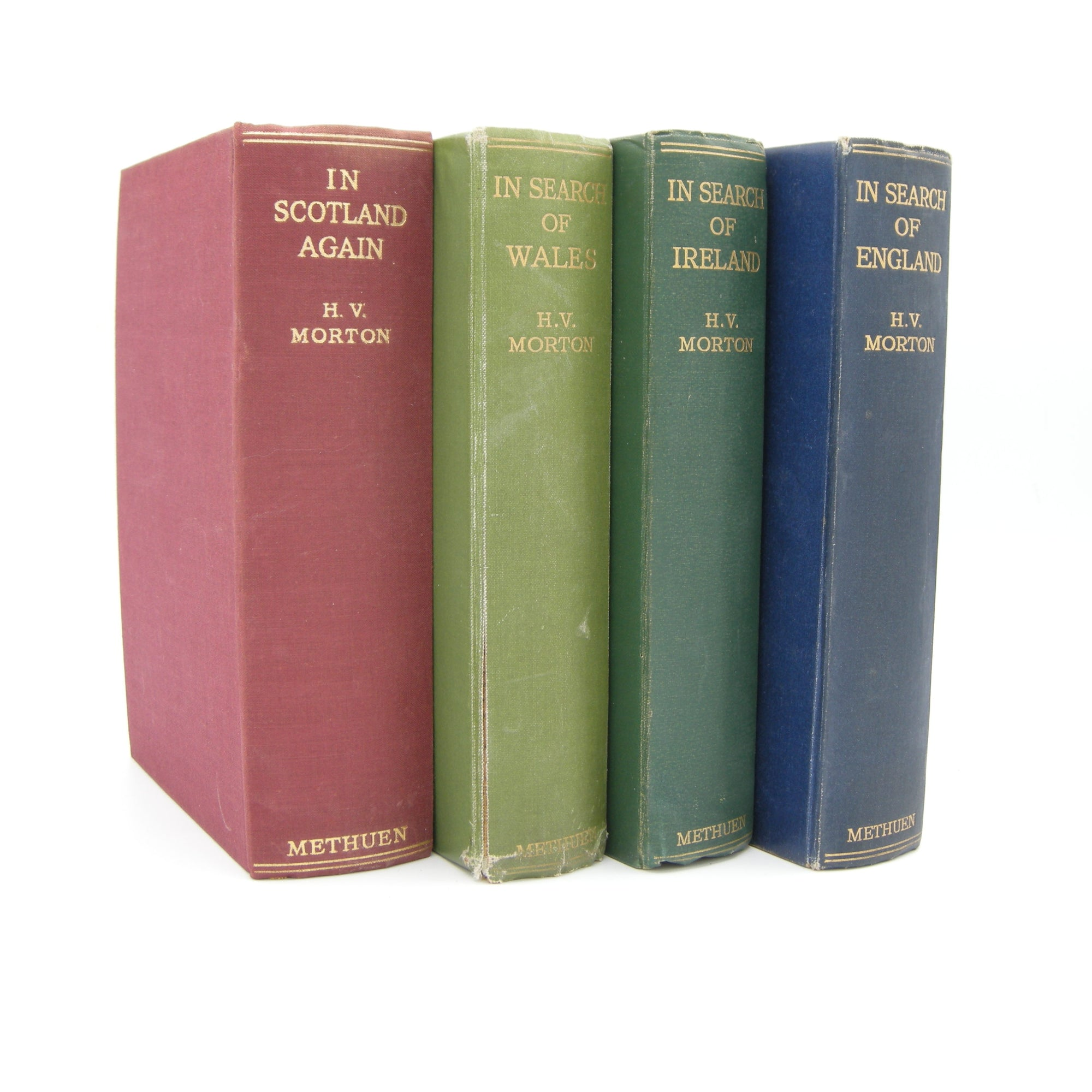 Collection of H.V Morton Books (Vintage, Decor, Classic) - Bluebell Abbey