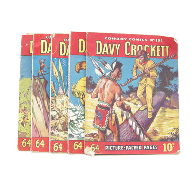 Davy Crockett Cowboy Picture Library Collection