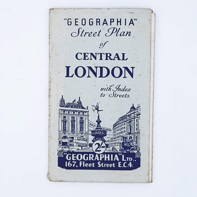 Vintage Street Plan of Central London