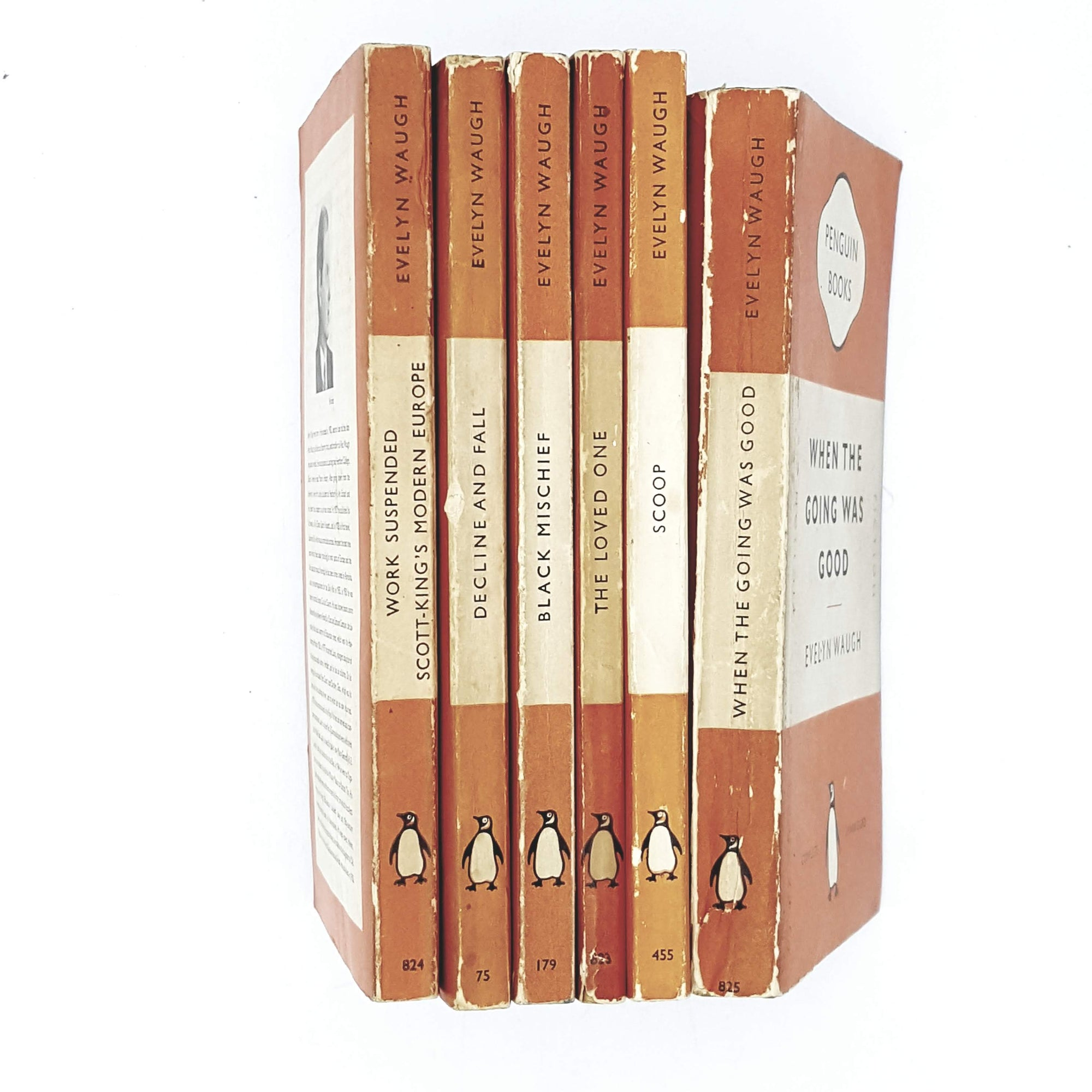 Collection Evelyn Waugh Orange Penguins 1951 - 1954