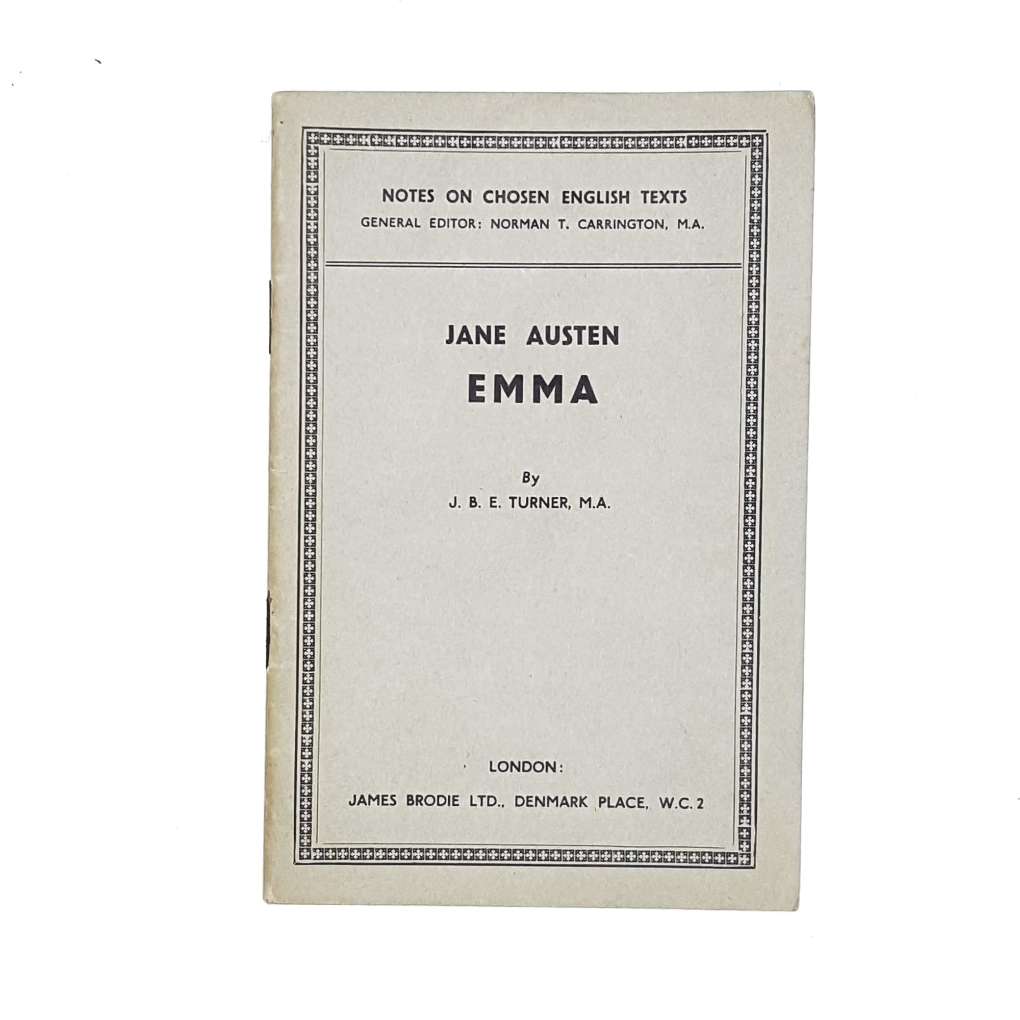 Notes on Jane Austen's Emma by J. B. Turner