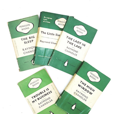 Raymond Chandler Five Book Collection 1940s 1950s 1960s