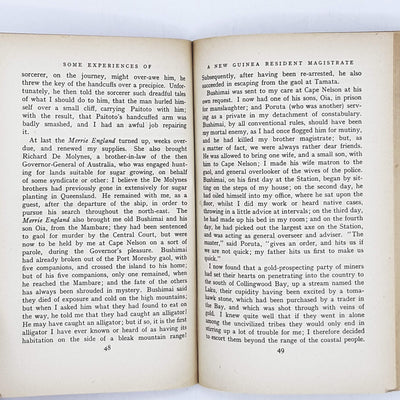 Some Experiences of a New Guinea Resident Magistrate (2) by C. A. W. Monckton 1937