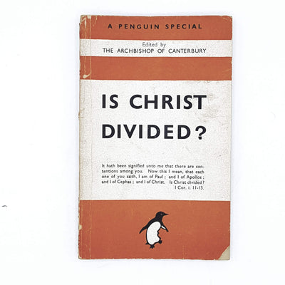 Is Christ Divided? by The Archbishop of Canterbury 1943