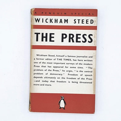 The Press by Wickham Steed 1938
