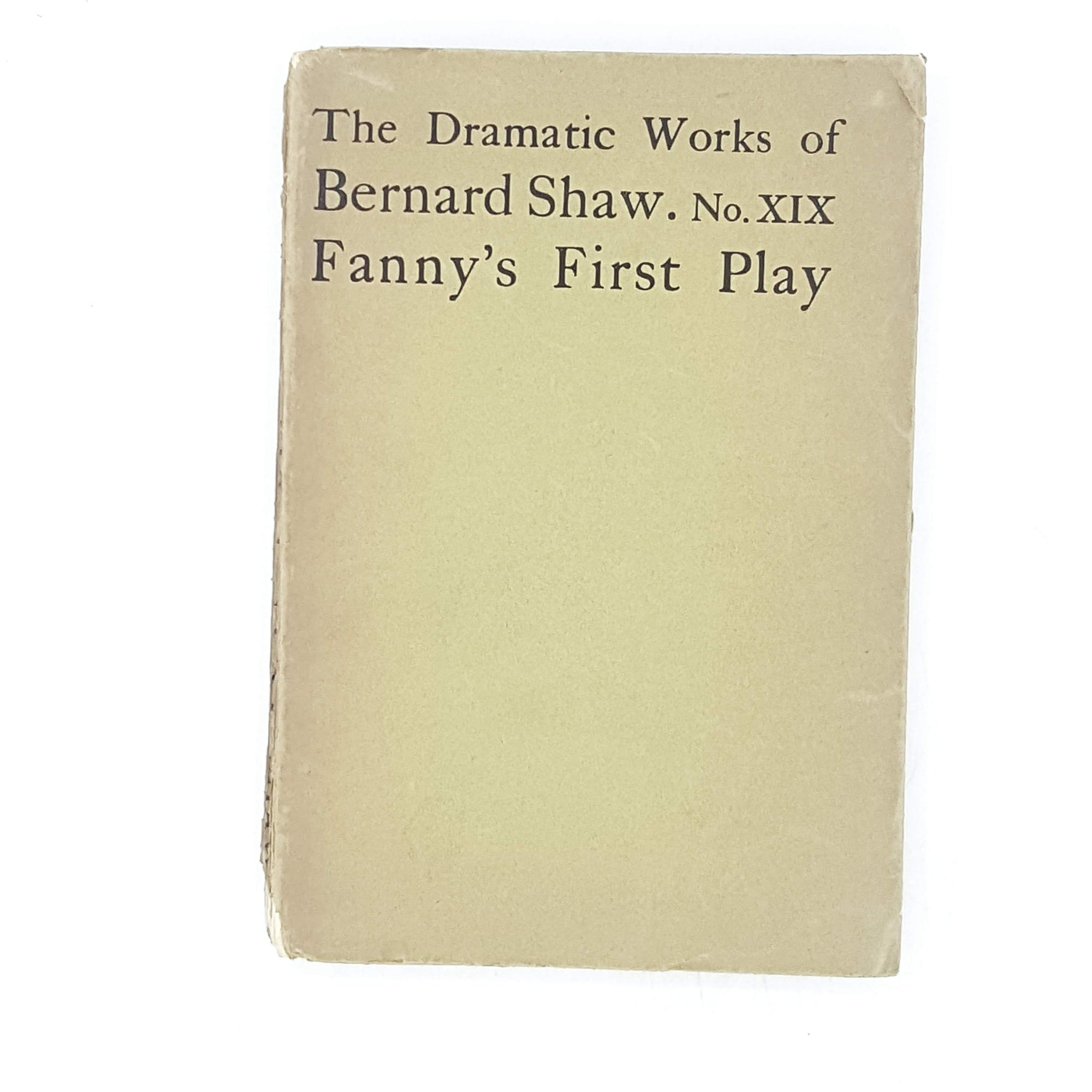 Fanny's First Play by Bernard Shaw 1927