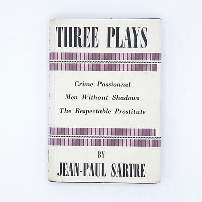 Three Plays by Jean-Paul Sartre 1963