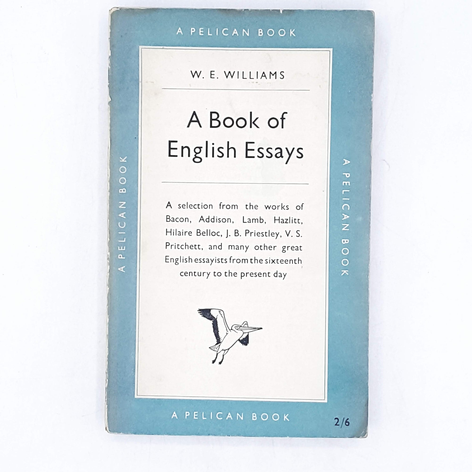 A Book of English Essays by W. E. Williams 1952