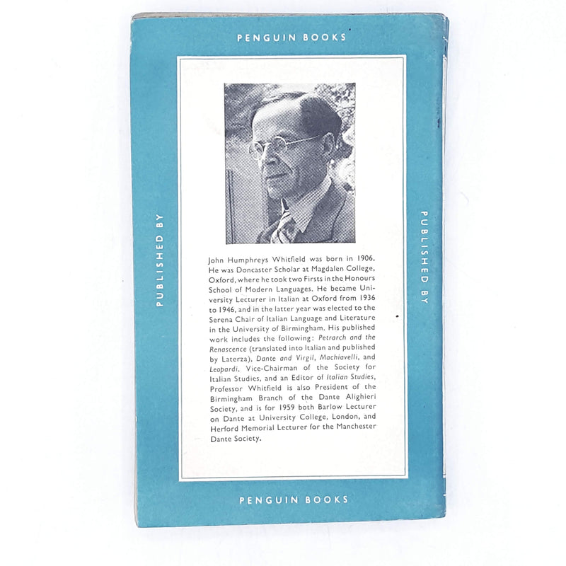 A Short History of Italian Literature by J. H. Whitfield 1960