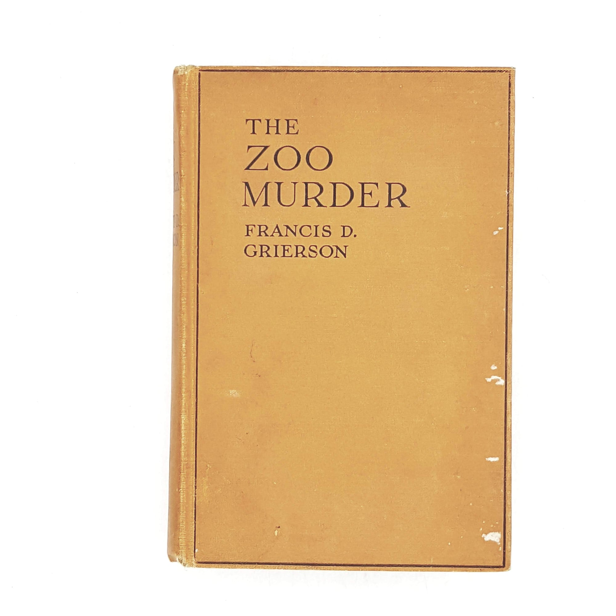 The Zoo Murder by Francis D. Grierson 1926