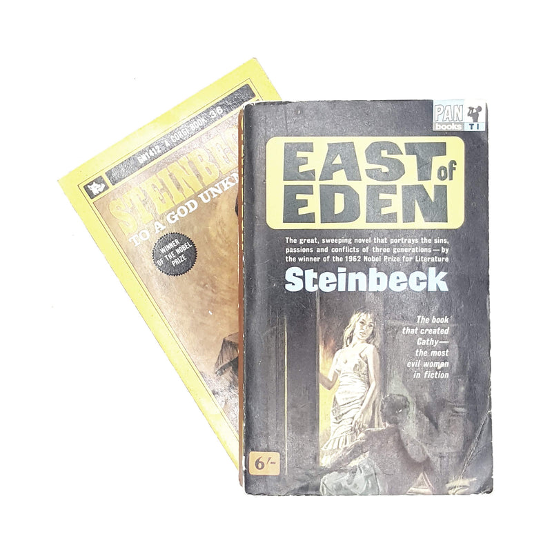 Collection John Steinbeck To A God Unknown and East of Eden 1963