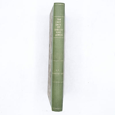 The Last Days of Shelley and Byron by J. E. Morpurgo 1952
