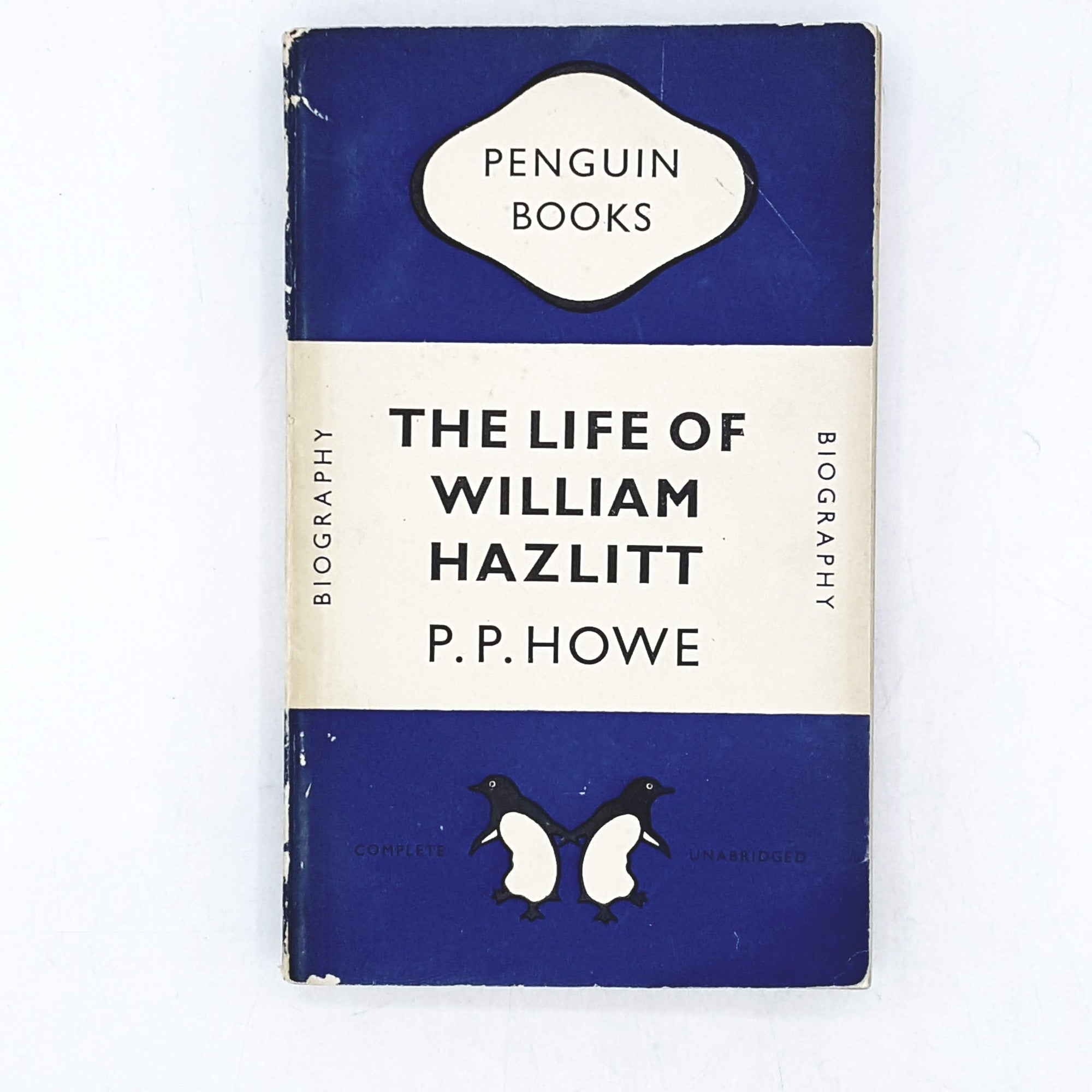 Vintage Penguin The Life of William Hazlitt by P. P. Howe 1949