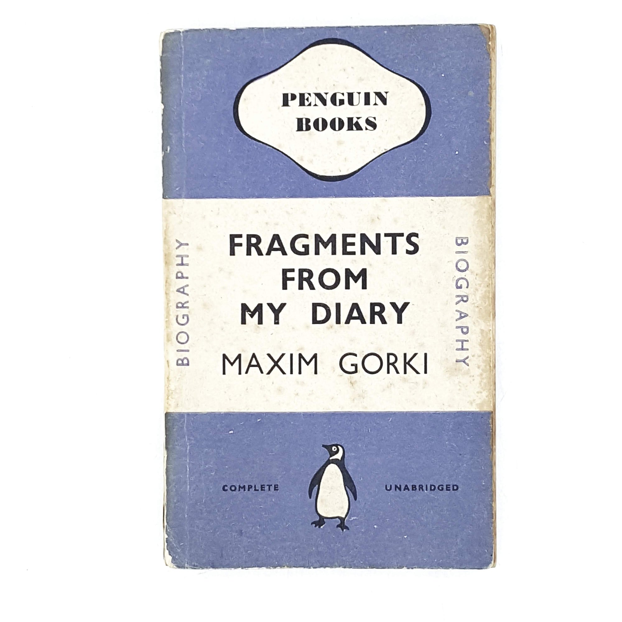 Vintage Penguin Fragments From My Diary by Maxim Gorki 1940