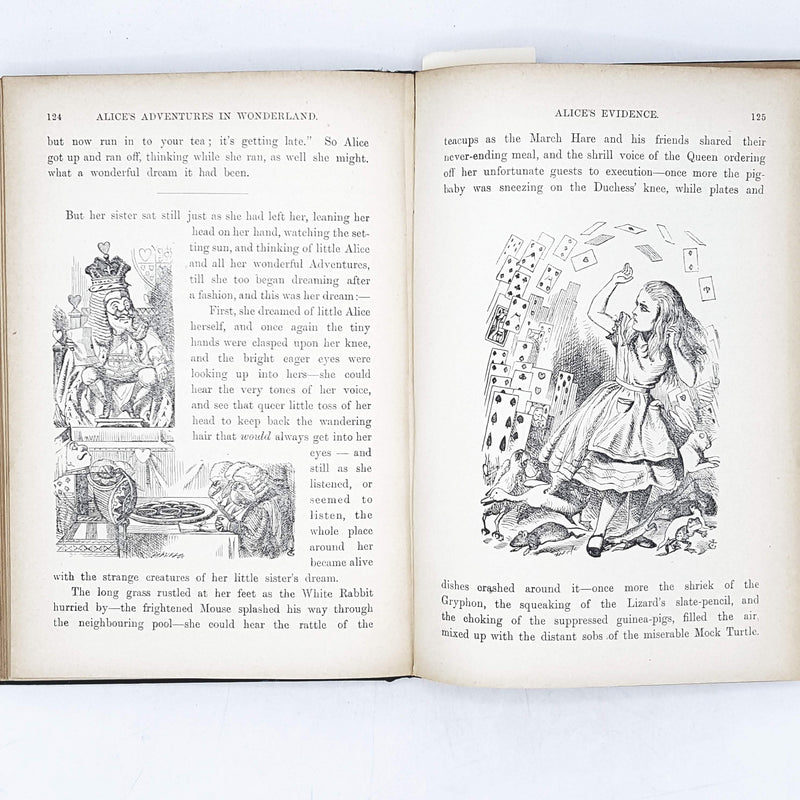 Illustrated Lewis Carroll's Alice in Wonderland & Through the Looking Glass 1906