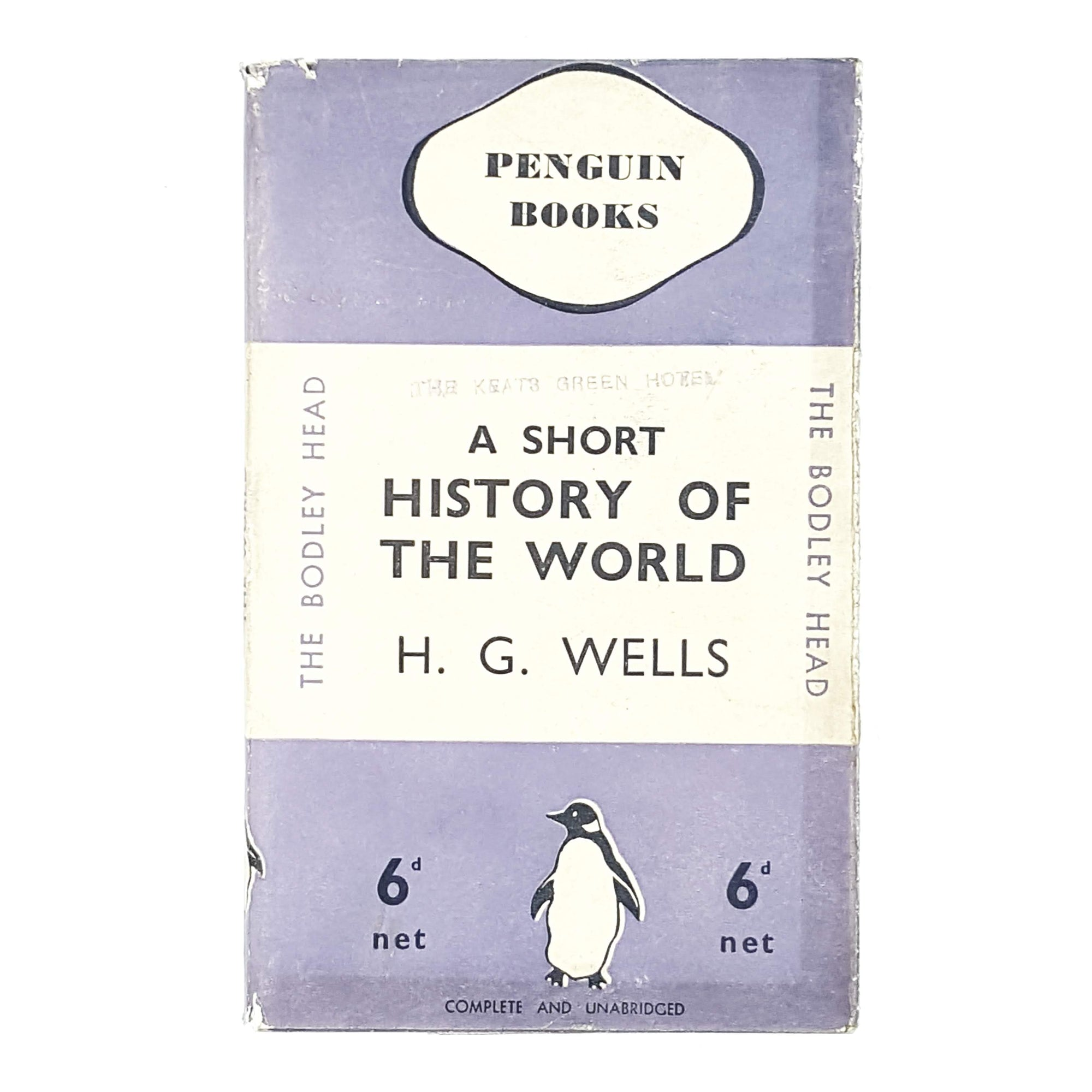 vintage-penguin-a-short-history-of-the-world-lilac-violet-purple-pastel-country-house-library