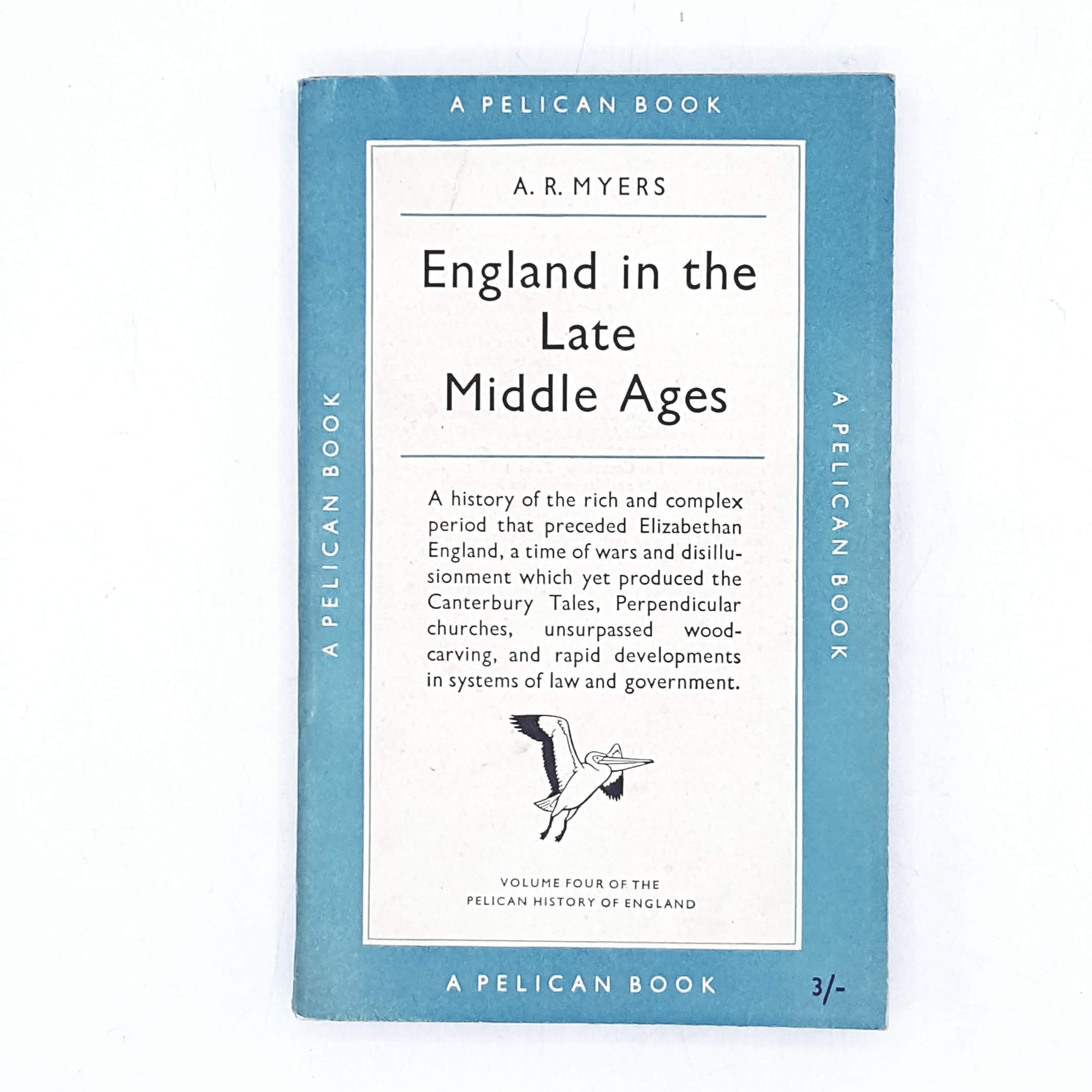 Vintage Pelican England in the Late Middle Ages by A. R. Myers 1952