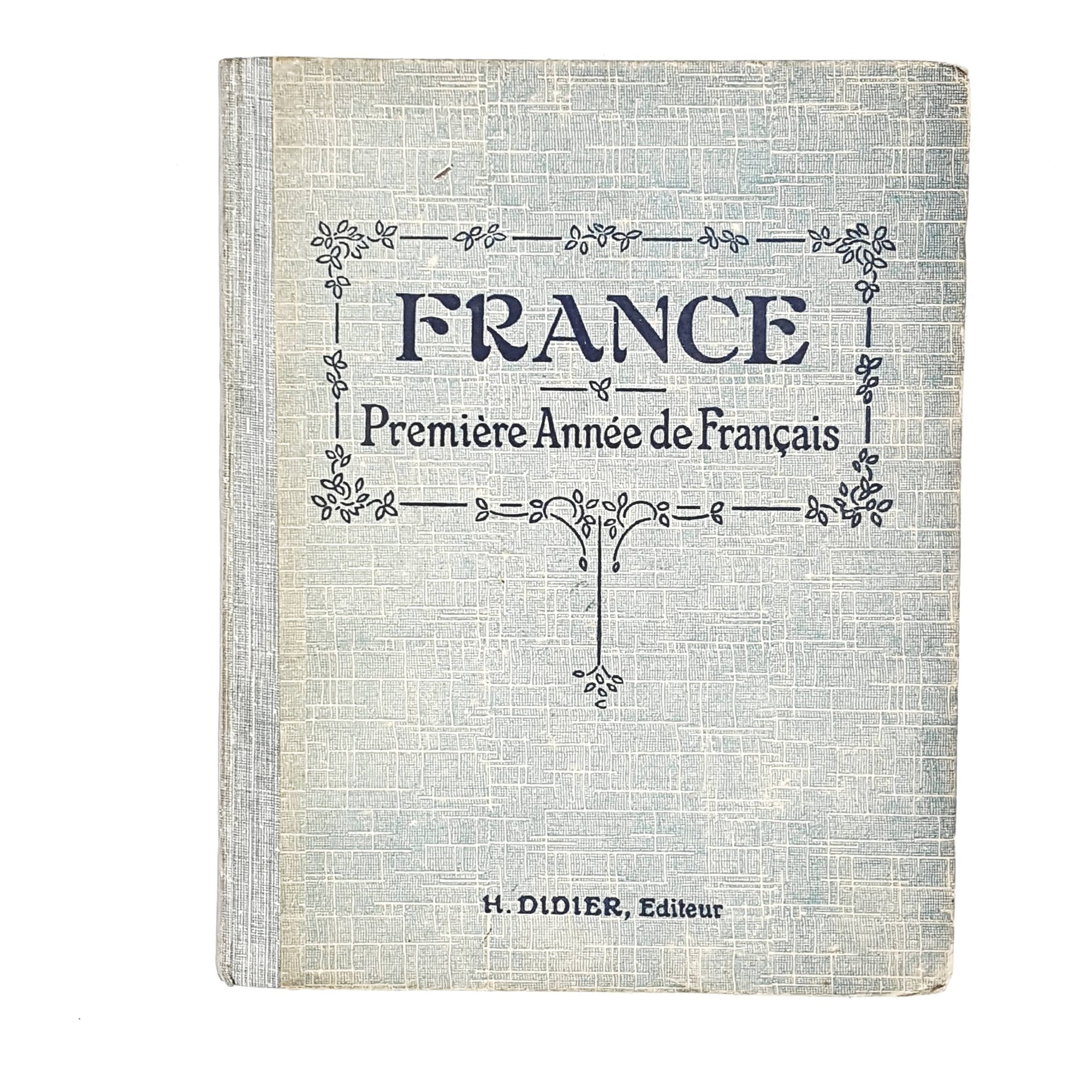 antique-french-language-book-blue-country-house-library
