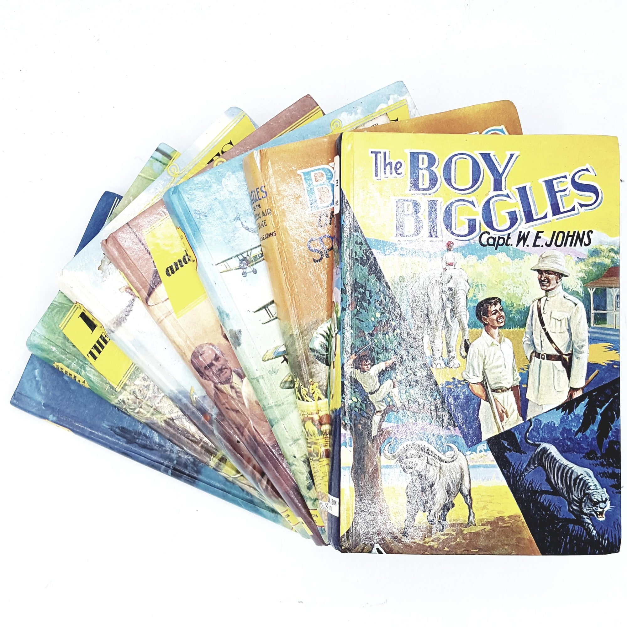 biggles-collection-captain-johns-rainbow-country-house-library
