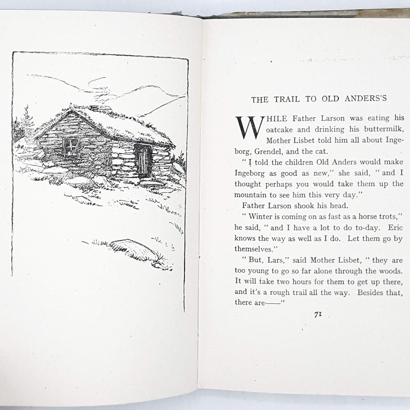 Illustrated The Norwegian Twins by Lucy Fitch Perkins 1942