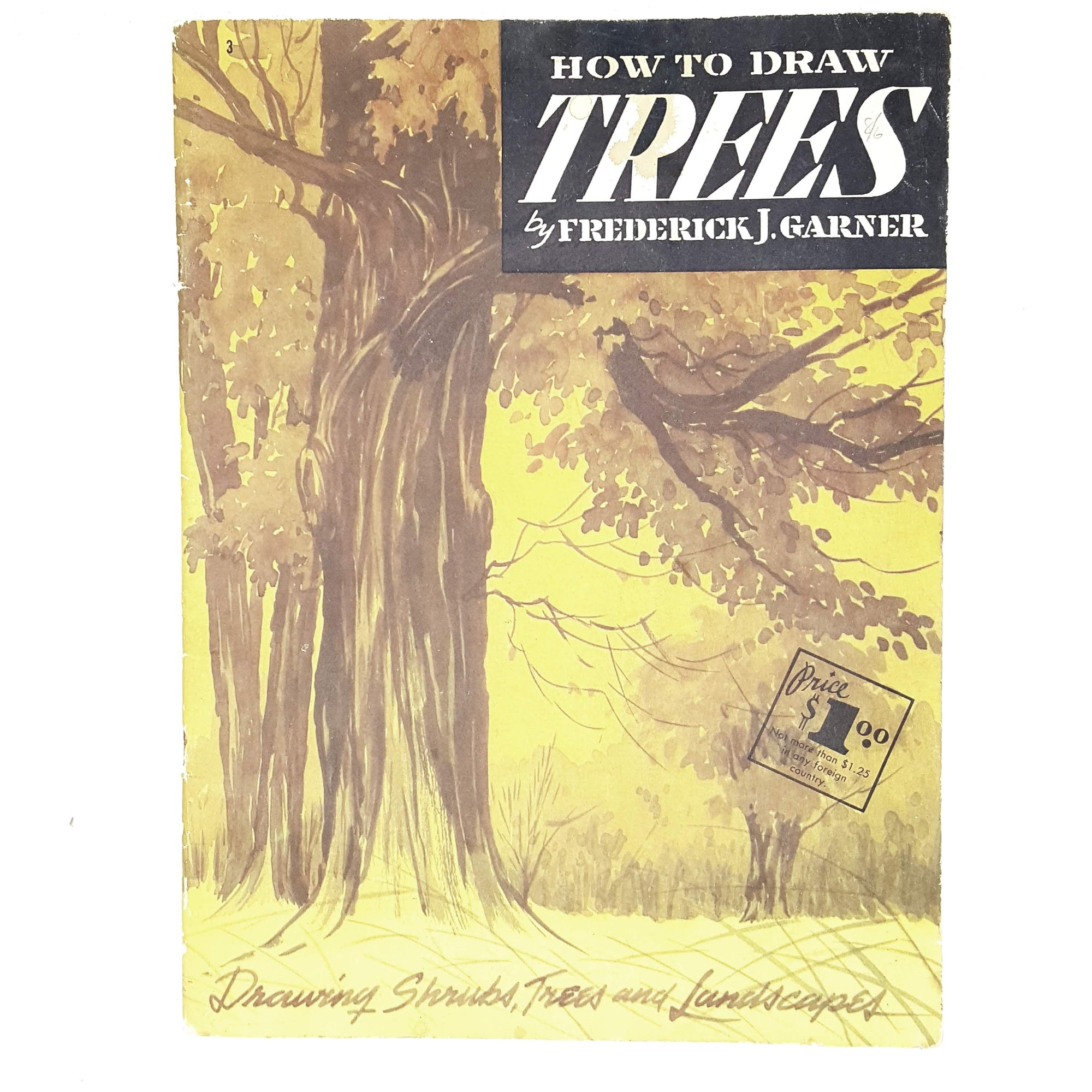 Vintage Arts How to Draw Trees by Frederick J. Garner 1965
