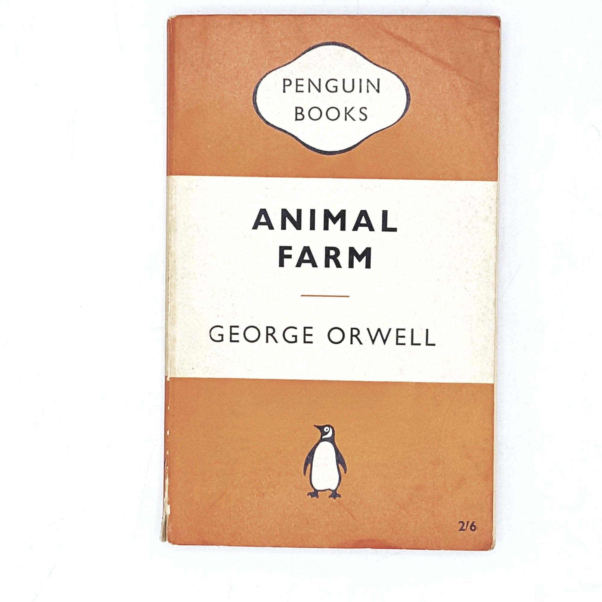 george-orwells-animal-farm-1961-orange-rare-books-country-house-library
