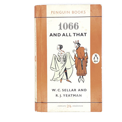 vintage-penguin-1066-and-all-that-by-w.-c.-sellar-and-r.-j.-yeatman-1961-orange-rare-books-country-house-library