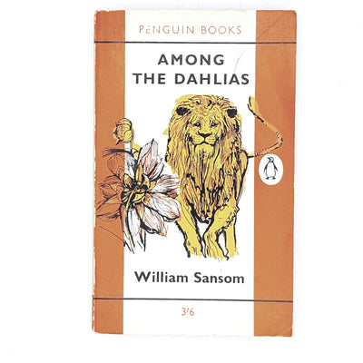 vintage-penguin-among-the-dahlias-by-william-sansom-1962-orange-rare-books-country-house-library