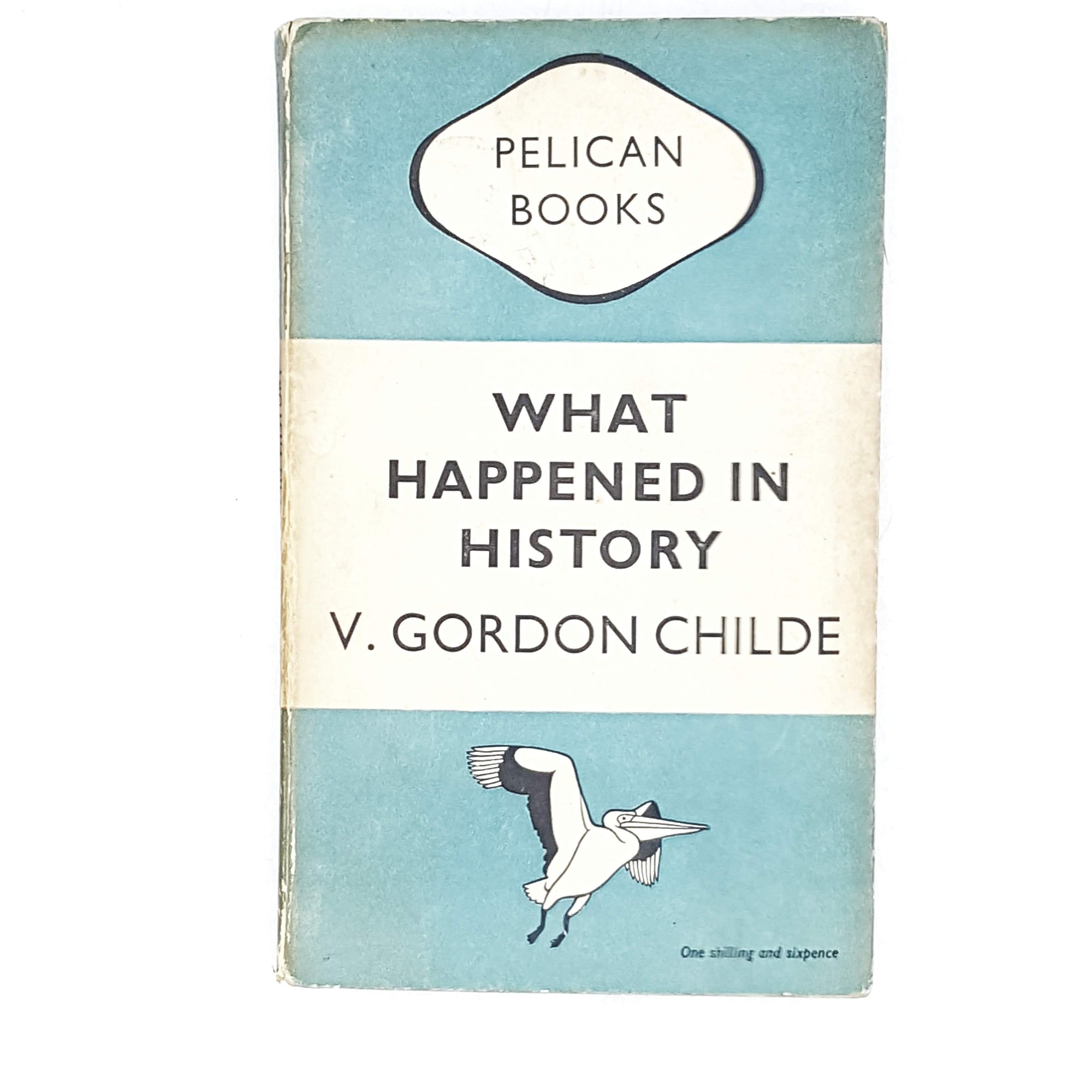 vintage-pelican-what-happened-in-history-by-v-gordon-childe-1948-antique-pale-blue-country-house-library