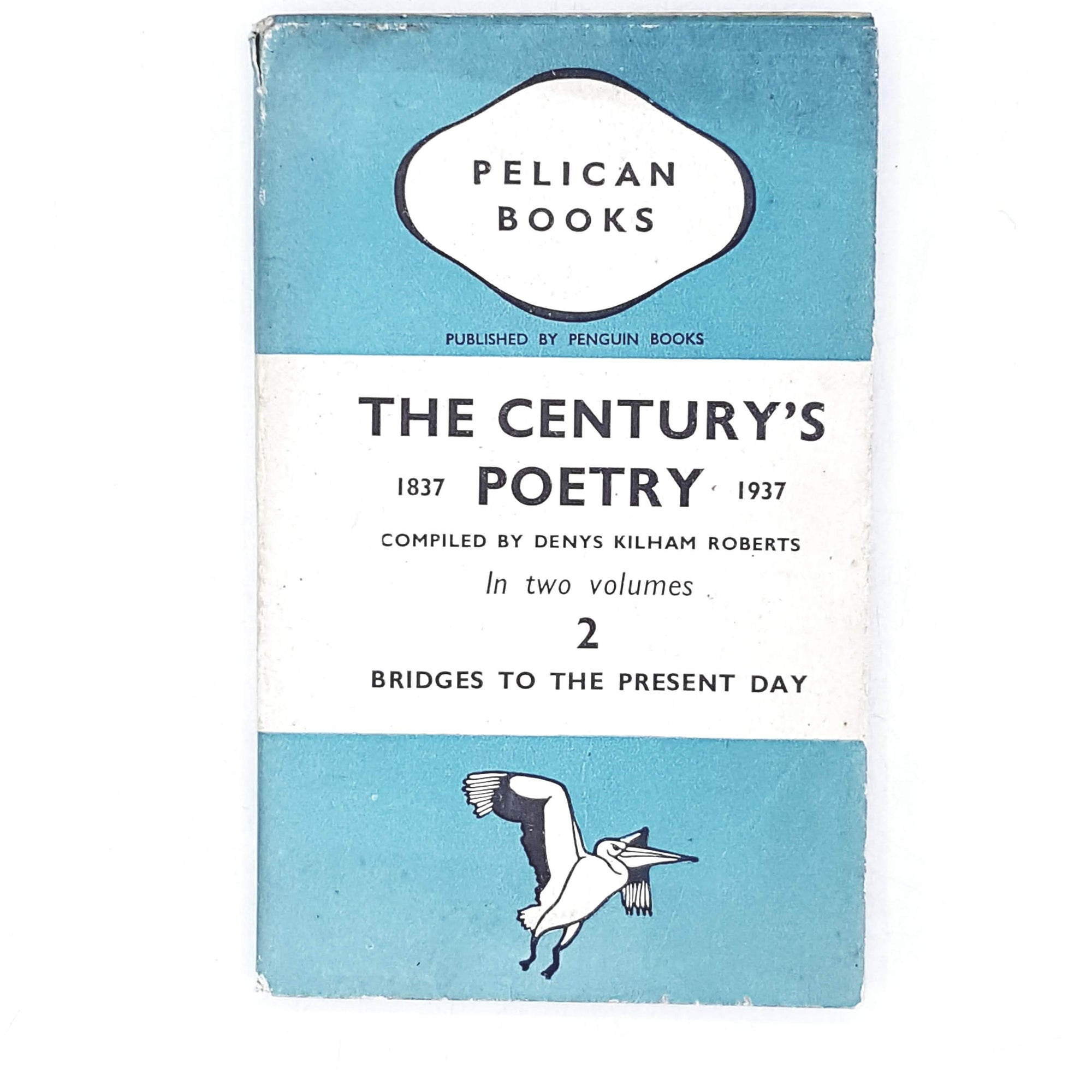 vintage-pelican-the-centurys-poetry-ii-by-denys-kilham-roberts-1939-antique-pale-blue-country-house-library