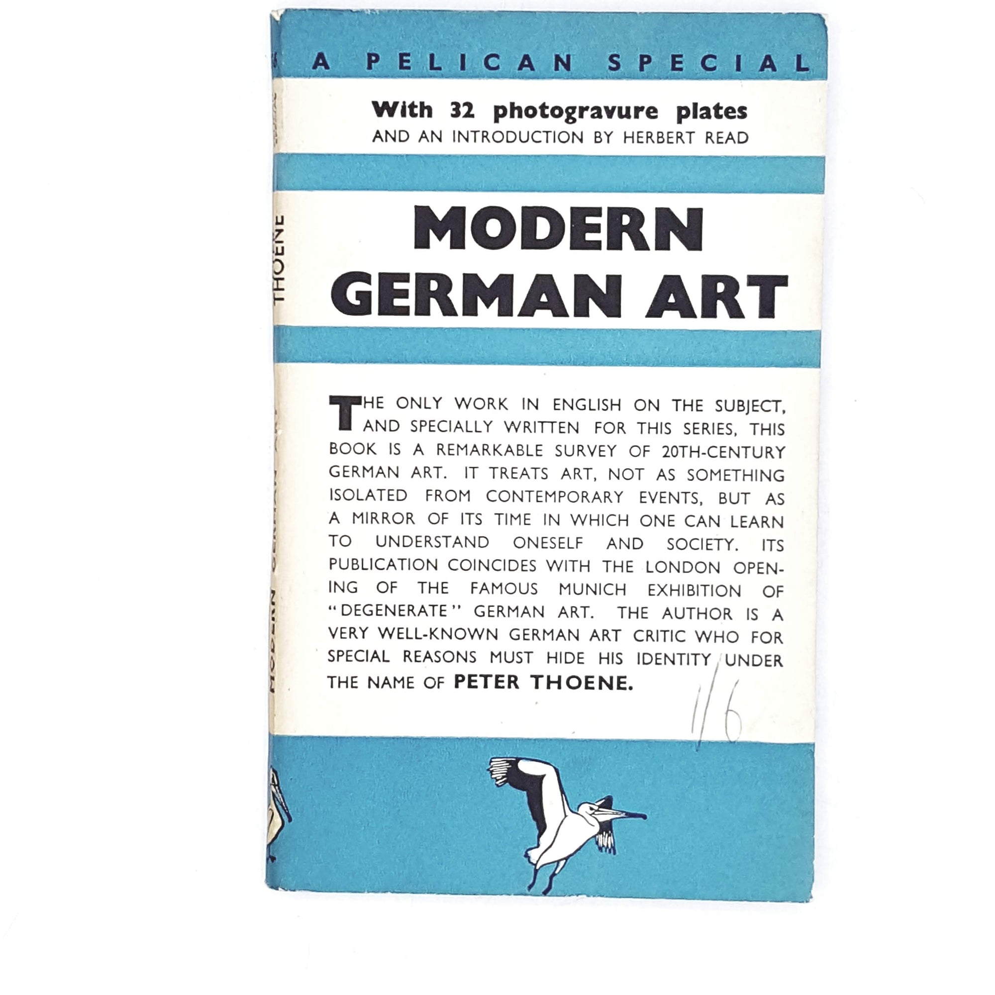 Vintage Pelican: Modern German Art by Peter Thoene 1938