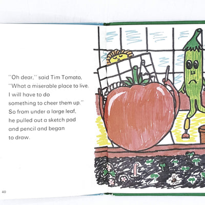 vintage-ladybird-garden-gang-oliver-onion-and-tim-tomato-antique-kindergarten-books-country-house-library