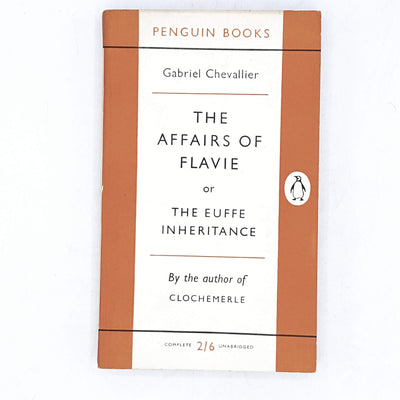 vintage-penguin-the-affairs-of-flavie-by-gabriel-chevallier-1956-orange-antique-books-country-house-library
