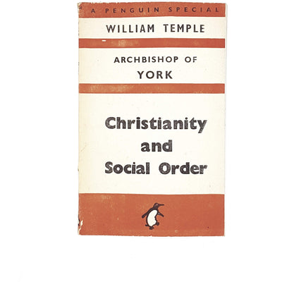 vintage-penguin-christianity-and-social-order-by-william-temple-1942-orange-antique-books-country-house-library