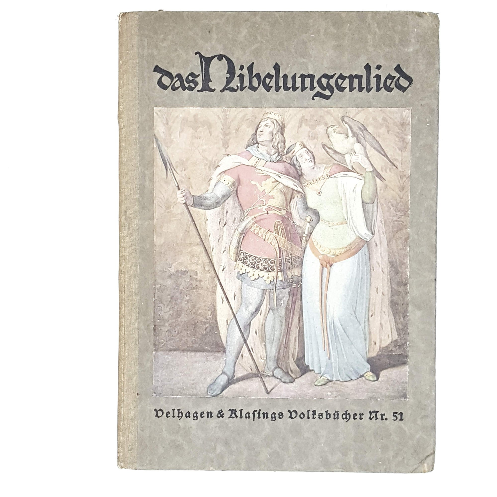 vintage-german-das-nibelungslied-by-bartsch-1923-antique-books-country-house-library