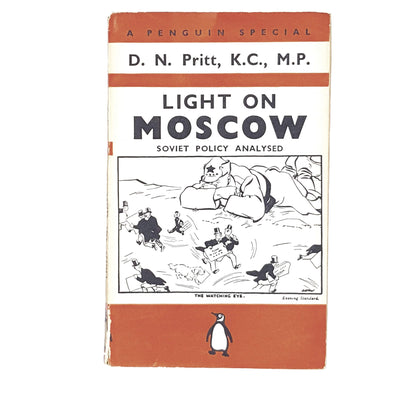 vintage-penguin-light-on-moscow-by-d-n-pritt-1939-orange-antique-books-country-house-library