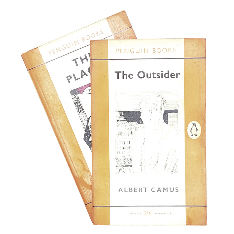 vintage-penguin-collection-works-of-albert-camus-1960-1961-orange-antique-books-country-house-library