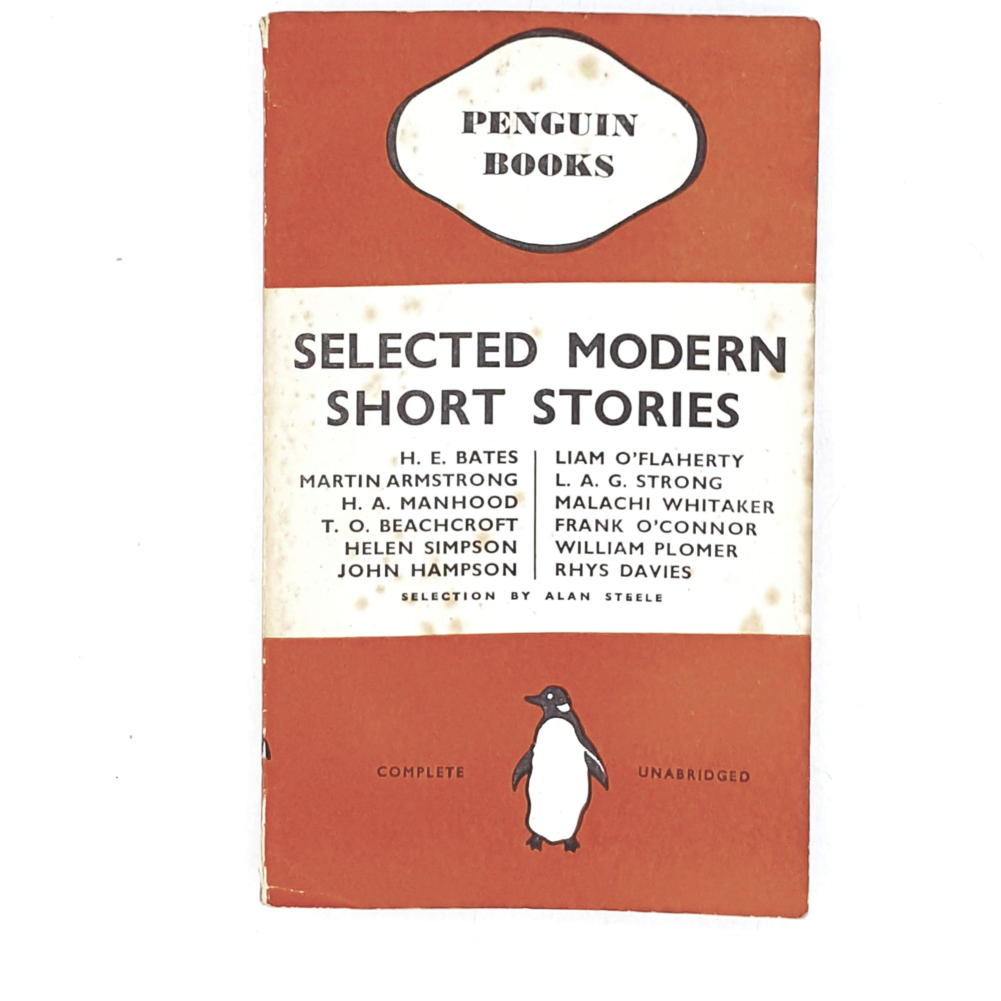 vintage-penguin-selected-modern-short-stories-1937-orange-antique-books-country-house-library