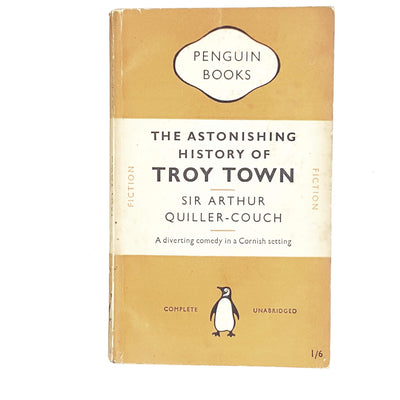 vintage-penguin-the-astonishing-history-of-troy-town-by-sir-arthur-quiller-couch-1950-orange-antique-books-country-house-library