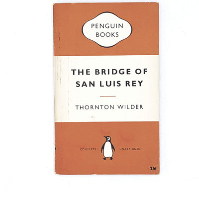 vintage-penguin-the-bridge-of-san-luis-rey-by-thornton-rey-1957-orange-classic-literature-country-house-library
