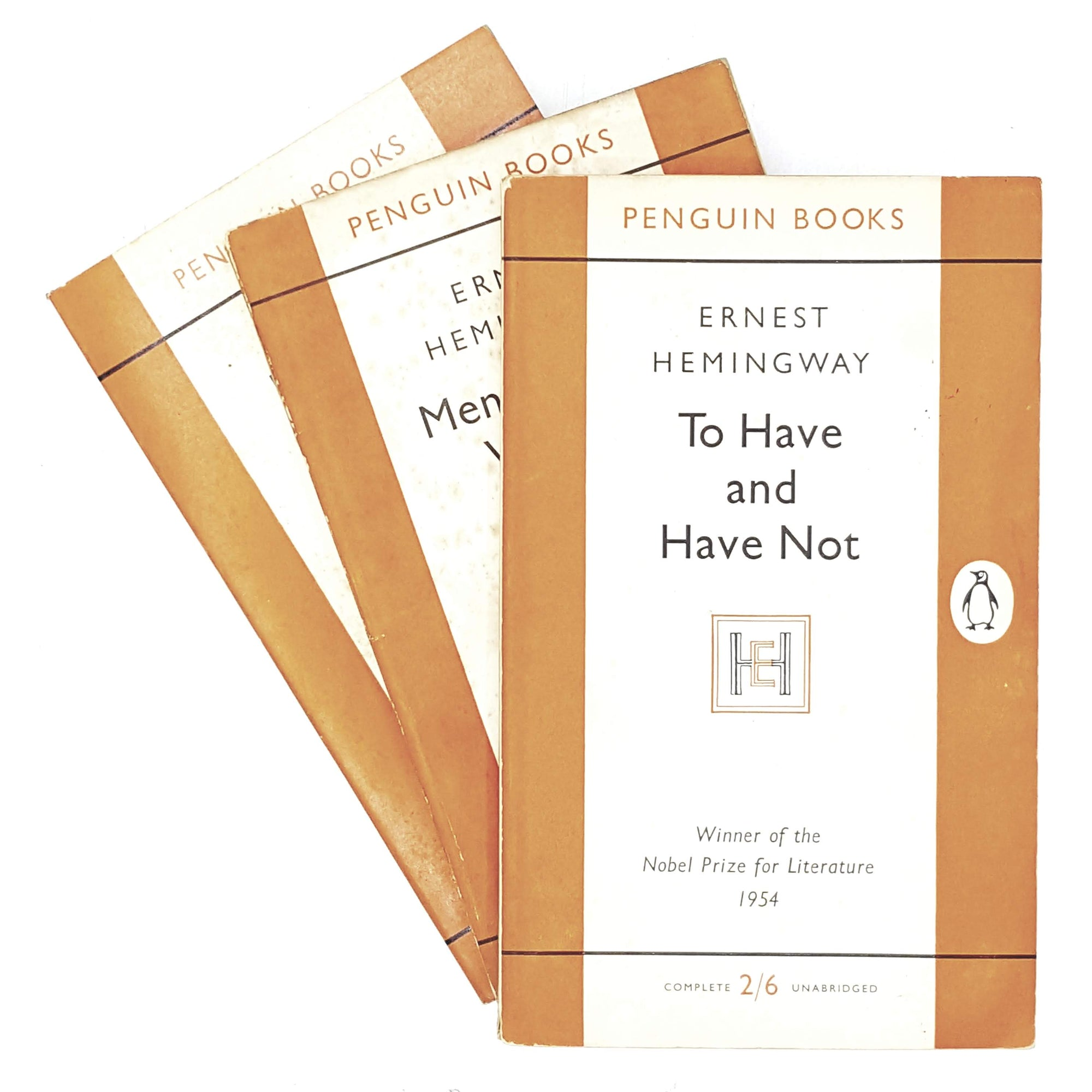 vintage-penguin-collection-ernest-hemingway-classics-1955-1962-orange-classic-literature-country-house-library