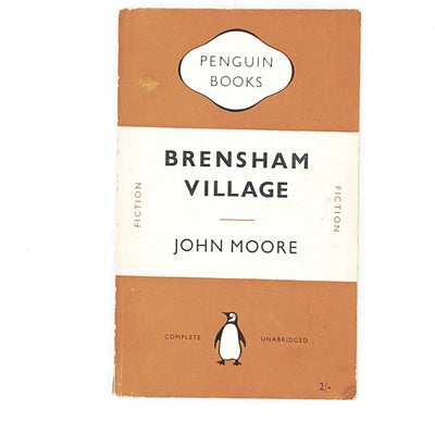 vintage-penguin-brensham-village-by-john-moore-1952-orange-classic-literature-country-house-library