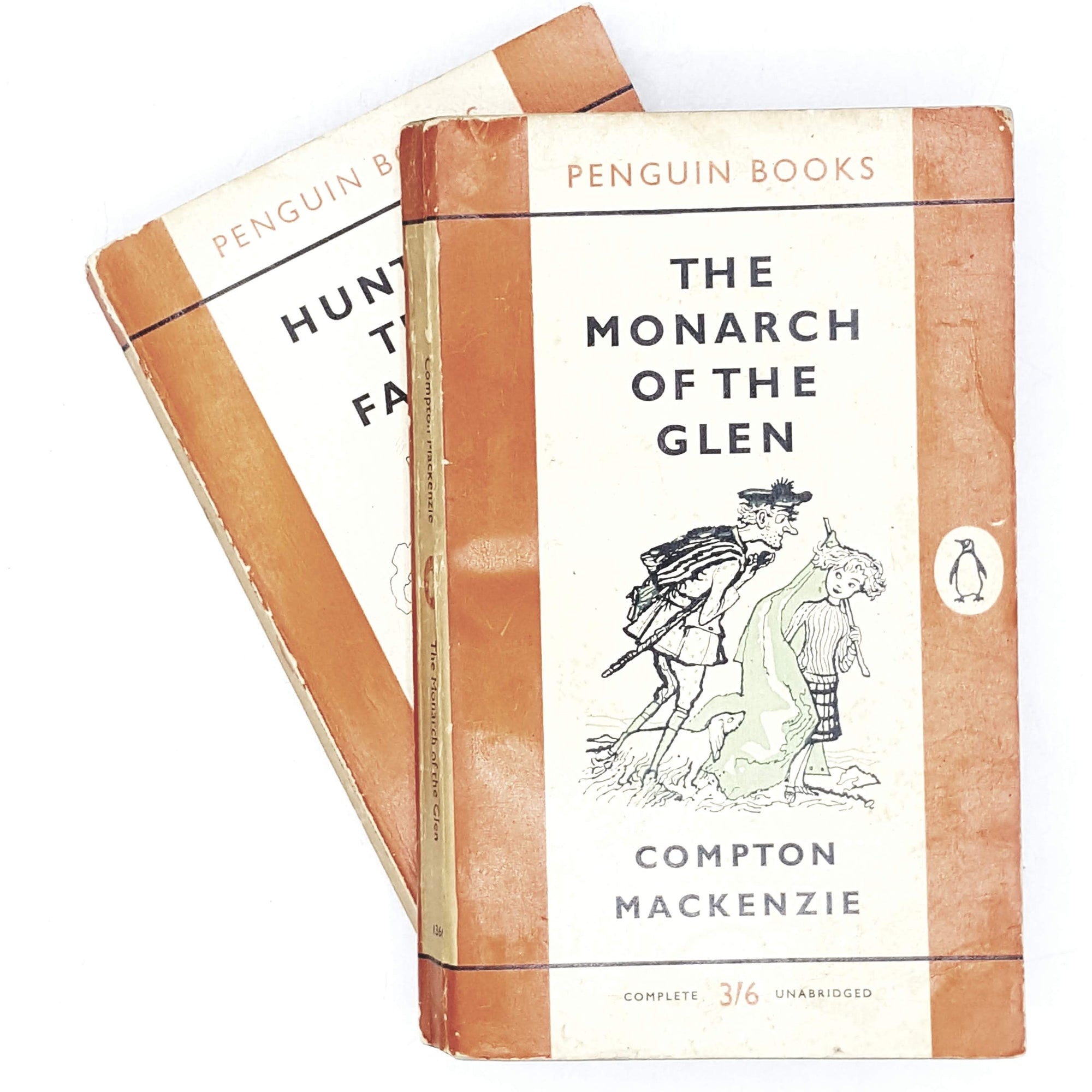 vintage-penguin-collection-works-of-compton-mackenzie-1959-orange-classic-literature-country-house-library