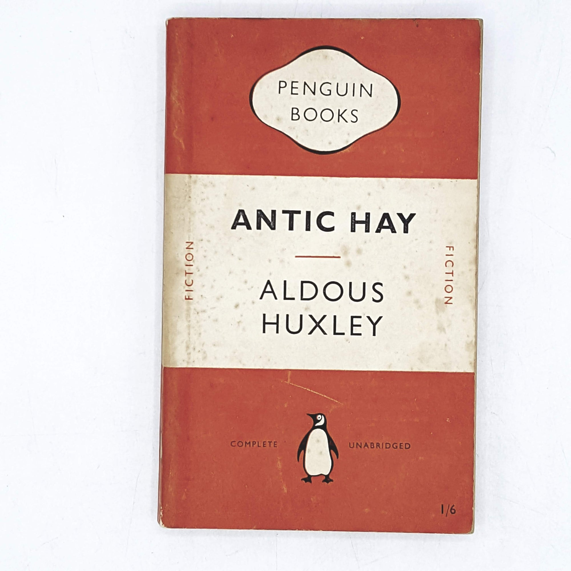 vintage-penguin-antic-hay-by-aldous-huxley-1950-orange-classic-literature-country-house-library