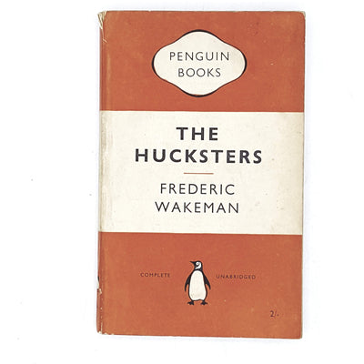 vintage-penguin-the-huckersters-by-frederic-wakeman-1954-orange-classic-literature-country-house-library