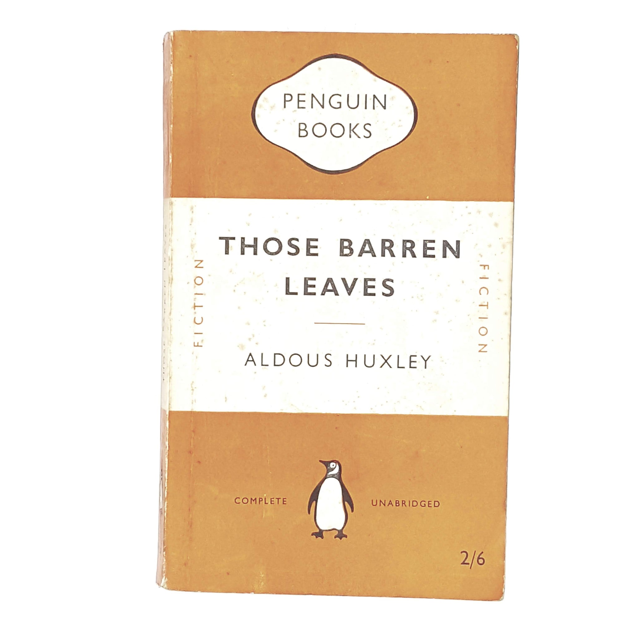vintage-penguin-those-barren-leaves-by-aldous-huxley-1951-orange-classic literature-country-house-library