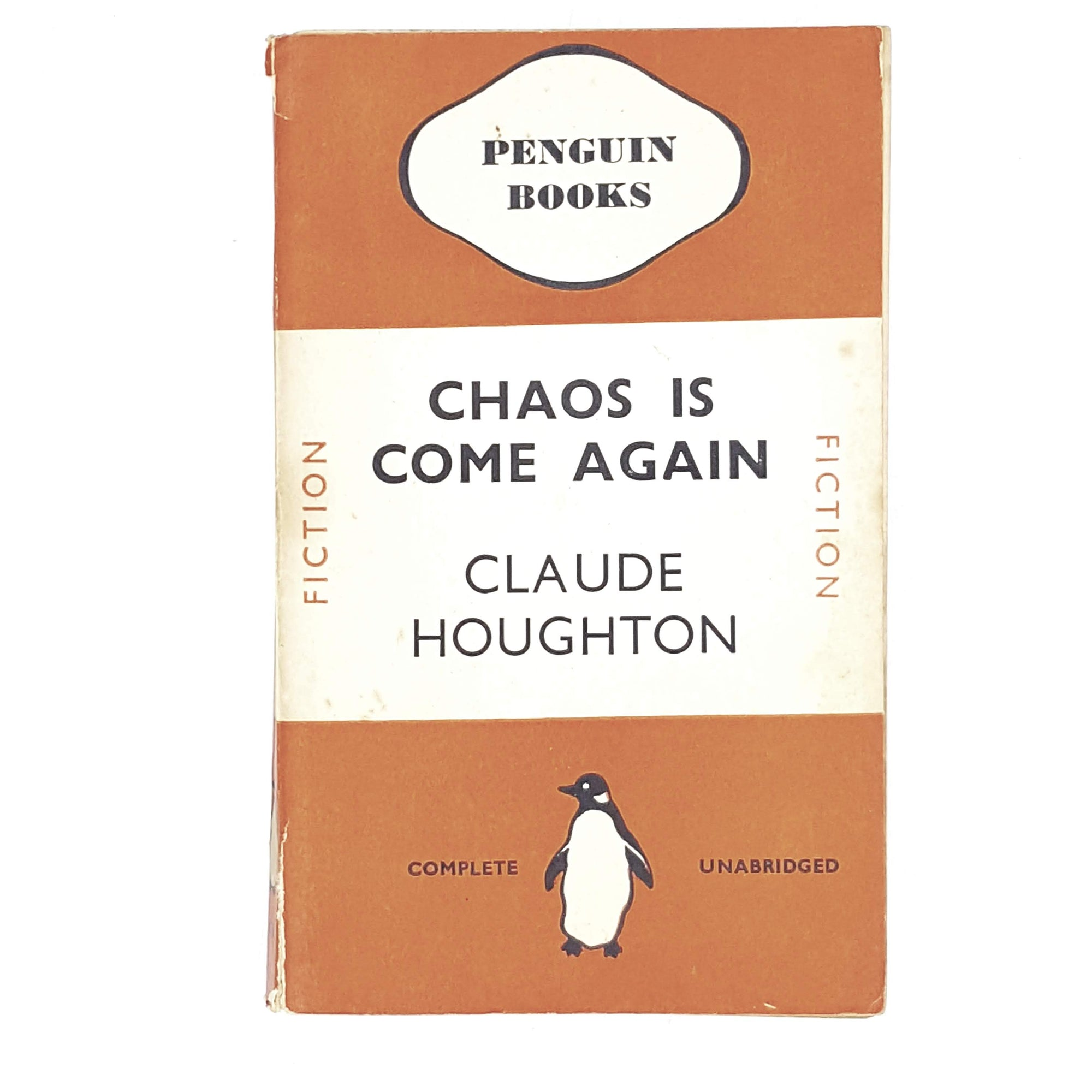 Vintage Penguin Chaos is Come Again by Claude Houghton 1938