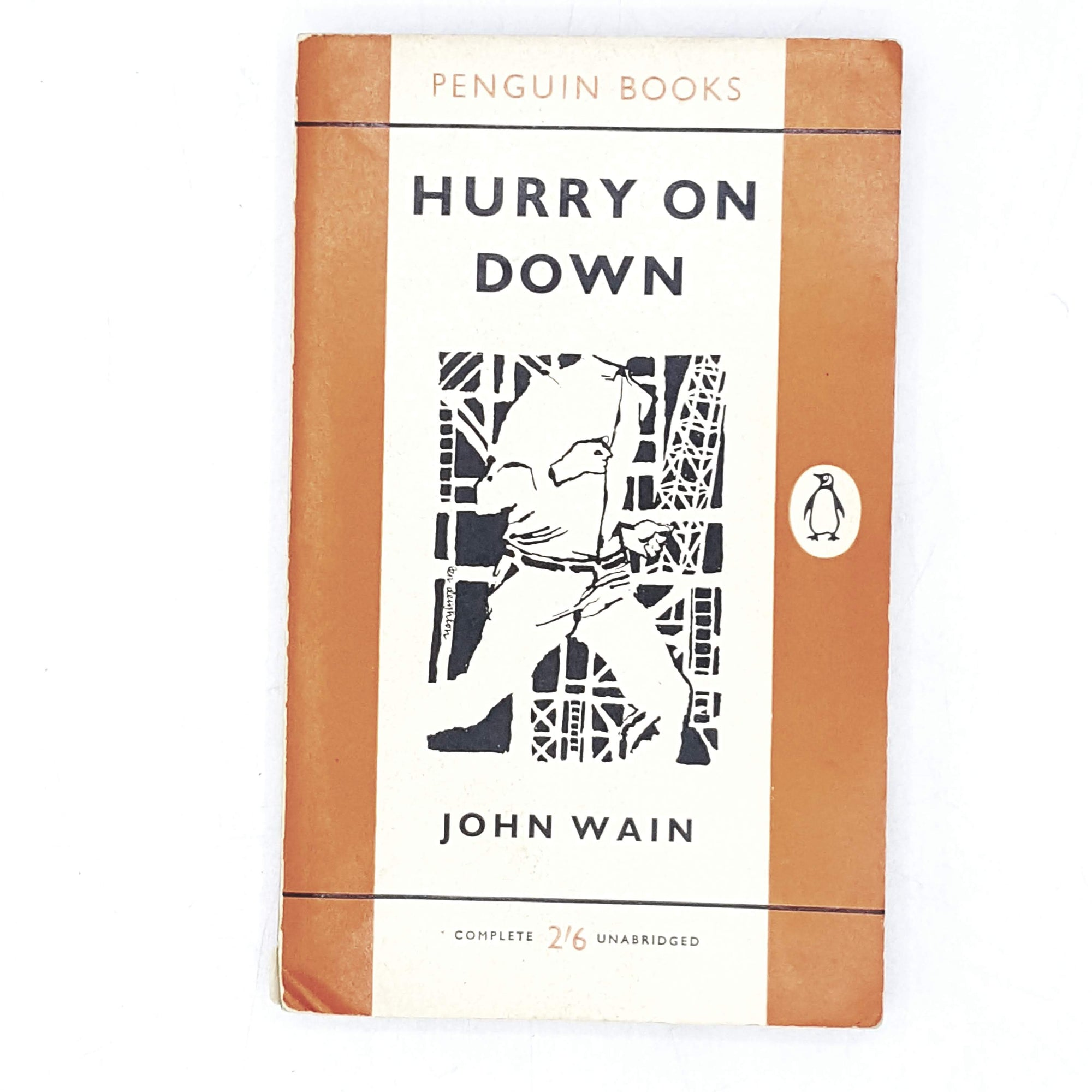 Vintage Penguin Hurry on Down by John Wain 1960